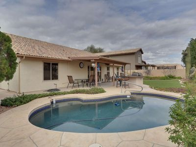 Photo for Family Outdoor Fun! Private Heated Pool, BBQ, TV's in all bedrooms, just 1 mile to downtown Chandler