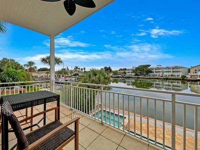 Photo for Luxurious waterfront home w/ a private pool - right across the street from park!