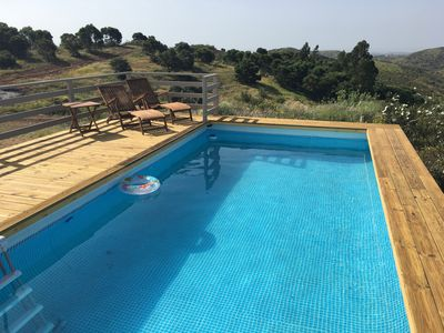 Photo for Countryside villa with stunning views down to the distant sea. Tavira.