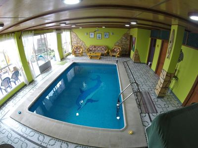 Photo for Apartment Delfin Azul with private heated pool (indoor wood)