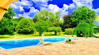 Photo for Detached cottage - air con, on a wonderful estate with large pool & tennis court