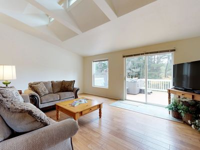 Photo for NEW LISTING! Lovely home w/private hot tub, grill, jet tub & views of the forest