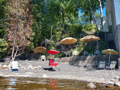 Private beach area with chairs/umbrellas included