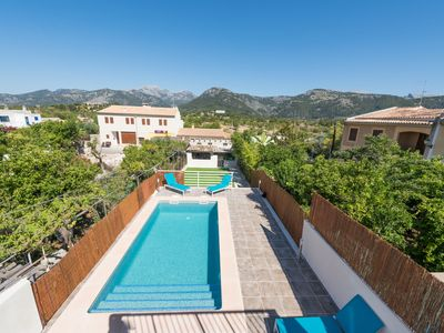 Photo for This 3-bedroom villa for up to 8 guests is located in Campanet and has a private swimming pool, air-