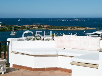 Photo for Wonderful apartment overlooking Porto Cervo Marina, shops and restaurants