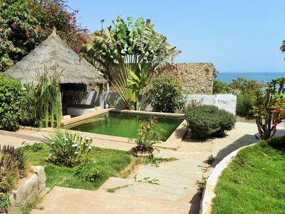 Photo for Villa Joko: Beach at 20m, green swimming pool, ocean view, air conditioning, pension