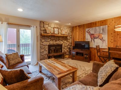 Photo for NEW LISTING! Cozy condo w/ shared hot tubs, pool, sauna, gym, and game room