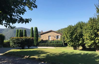 Photo for Beautiful private villa with pool, WIFI, TV, patio, panoramic view and parking, close to Lucca