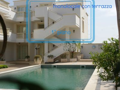 Photo for Appt. new, sea view terrace and pool with Hot Tub. 4 beds