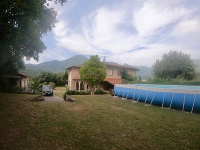 Photo for Villa with swimming pool surrounded by the green hills of Camaiore