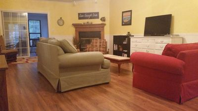 Family room opens to Sunroom