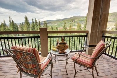 balcony with outdoor furniture perfect for relaxing