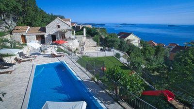 Photo for Unique 4 bedroom stone holiday villa with private pool in Mlini near Dubrovnik