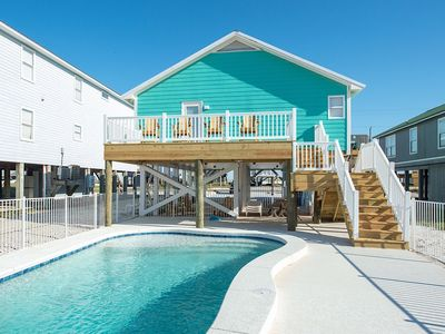Photo for Beautiful house with a PRIVATE POOL on WEST BEACH!!
