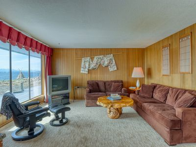 Photo for Family-friendly waterfront home w/ beach access & views