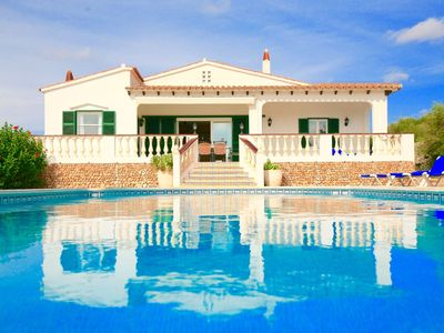 Photo for Sweet villa with private pool, gardens and total privacy near Cala en Porter