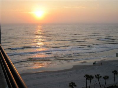 Sunrise views from your private balcony. Begin every day of your vacation with a cup of coffee and this spectacular view.