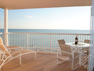 Photo for Spacious 1525  sq ft Gulf front condo, 2 bed, 2 bath, sleeps 7, top corner unit