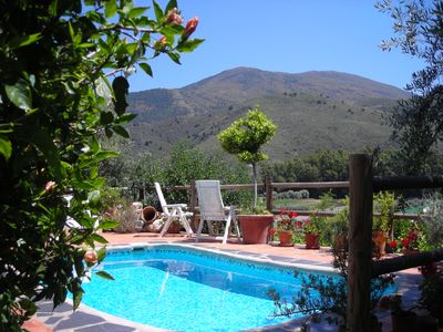 Photo for Cozy and quiet holidaycottage with private,heatable pool and breathtaking views