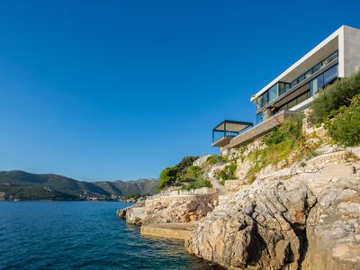 Photo for Villa Kovica Waterfront - 7 Bedroom Villa with Annex - Stunning Sea Views - Sauna
