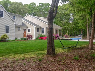 Photo for #431: Gorgeous home, spacious, private yard, mahogany deck, 3 mins to Cooks Brook Beach!