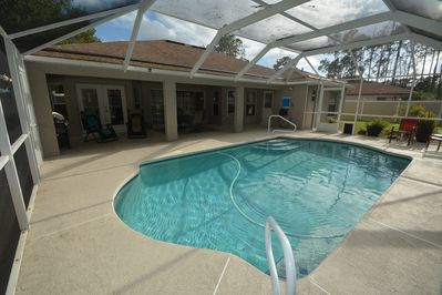 Large covered pool area