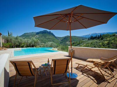Photo for Stunning villa with panoramic views of Saint-Julien and the Mont Ventoux