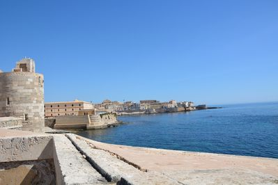 Seafront in east Ortigia
