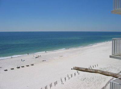 View of the Gulf of Mexico Beach from Condo in Orange Beach, AL