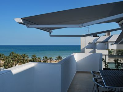 Photo for New penthouse in beautiful beach front. Free wifi and pool