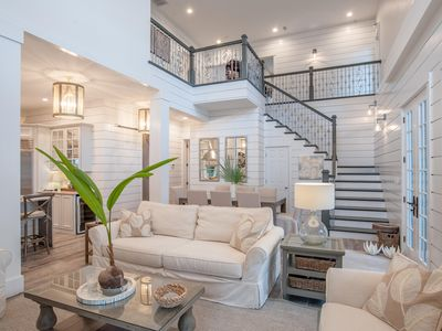 """Photo for Beautifully Appointed 4 Bdrm/3.5 Bath  """"La Verandah"""" Cottage in Rosemary Beach"""