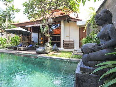 CENTRAL 2 BEDROOM VILLA WITH POOL AND GARDEN IN SANUR, BALI.