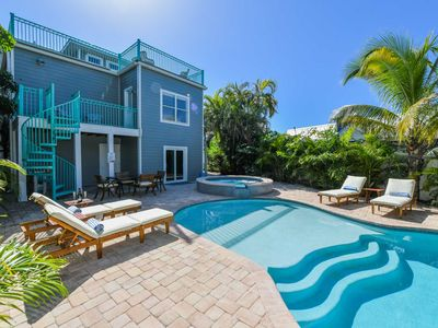 Photo for ALMOST 5000 Sq Ft+ - 8 Bedrooms - Sleeps 22+ - Pet Friendly - Private Pool and Oversized Spa. Game Room w/ Fridge and Pool Bath. Seconds from the Beach and Village! Perfect for the Whole Family. Concierge Included.