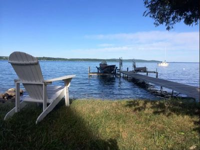 Photo for 4BR 1.5Bath home Overlooking beautiful Crystal Lake w/dock and private access