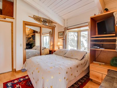 Photo for Cozy double condo w/ a private Sauna, sunroom w/ a fireplace, & shared tennis