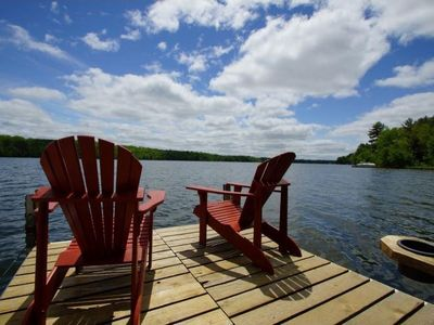 Photo for Gorgeous Log Cabin on Long Lake | Boat Lift & Dock Included | 2 Hours from MSP