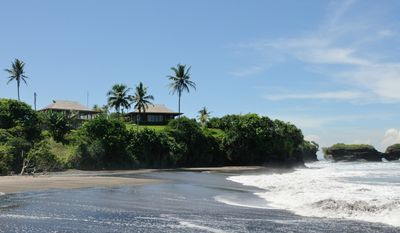 Wild black sand beach, just the villa and you in Bali (easy beach access)