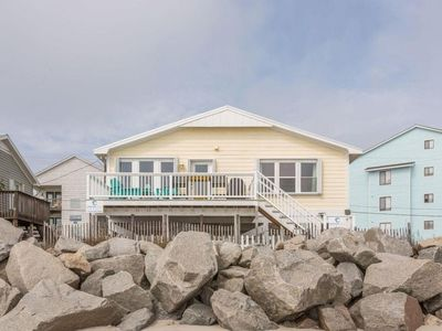Photo for Oceanfront Carolina: Cozy, Pet Friendly, 2 Bedroom Oceanfront Home in Carolina Beach.