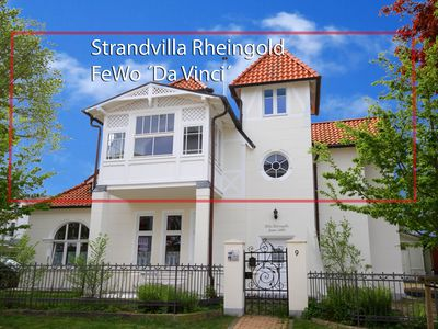 Photo for May offer! Gr. Luxury apartment with sea view on the upper floor of the beach villa Rheingold