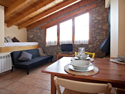 Photo for Rural apartment Cal Borda for 3 people