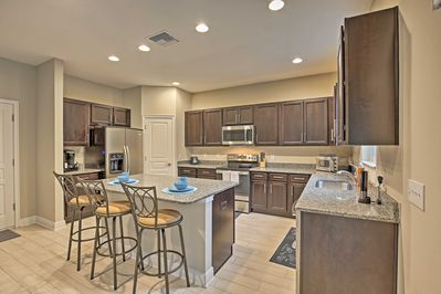 This 4-bedroom, 3-bathroom vacation rental house accommodates up to 10 guests.