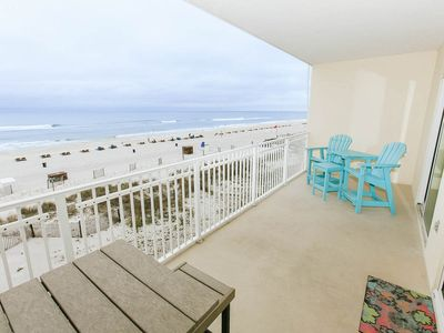 Photo for BEACHES are OPEN!!! Perfect Views! Ocean Front, Clean and Updated! Corner Unit!