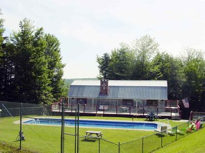 Photo for Private camp- with private inground pool & hot tub, views, privacy, amazing