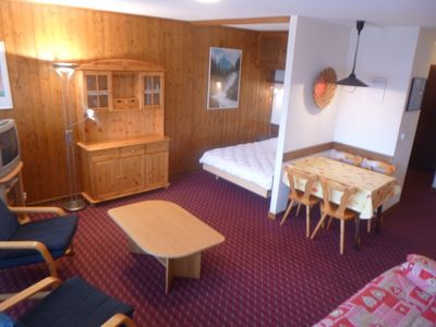 Photo for Studio, 3* for 2-4 persons, situated next to the gondola lift. Living room with sofa bed for 2 perso