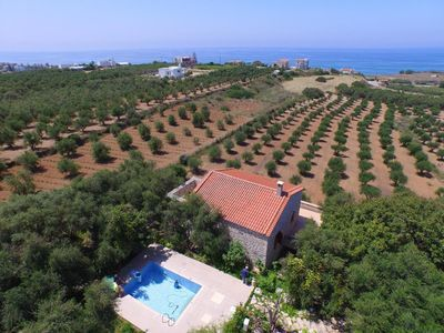 Photo for The holiday home Stafro Daskalaos is located in a quiet location with two other houses (Filitsa and Stelo), in an olive grove just 1 km from the beach of Stafromenos.