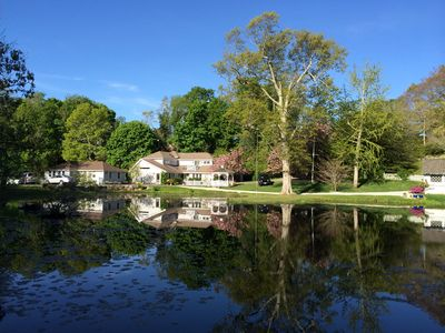 Main House and Pool Cottage across Lily Pond