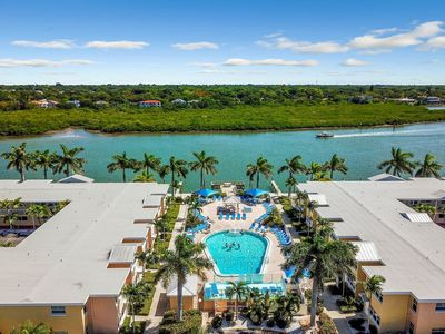 Photo for Bayfront condo w/ shared pool, gas grill minutes from Indian Shores Beach!