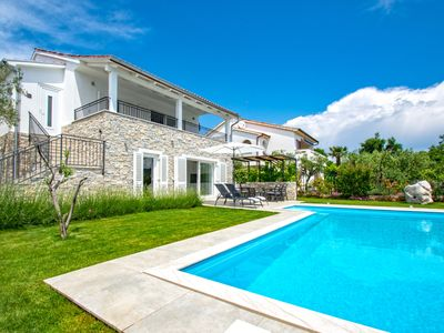 Photo for Luxury villa with pool, 400 meters from the beach, magnificent sea views, quiet location