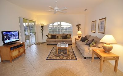 Living Room leading to patio and pool