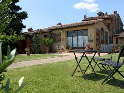 Photo for POGGINO an old renovated barnhouse with panoramic view and swimming pool.